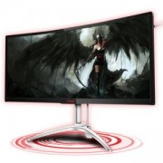 Монитор AOC AGON 35 инча Curved Gaming Monitor, G-SYNC, (3440x1440), VA Panel, 120Hz, 4ms, DP, HDMI, USB 3.0, AG352UCG6