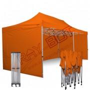 ray bot Gazebo pieghevole 3x6 arancione Exa 45mm TOP alluminio con laterali PVC 350g