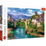 Puzzle Podul Vechi in Mostar, Bosnia si Herzegovina 500 piese