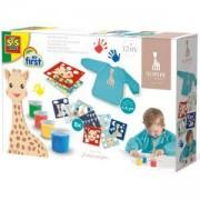 Детски комплект за рисуване с пръсти жирафчето Софи SES, 0814494