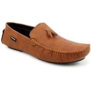 Footista Mens Tan Loafers