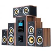 GENIUS SW-HF5.1 5200 150W (дървен материал),Slot- READER-USB,SD,MicroSD