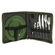 Trusa Picnic pentru 2 Persoane NGT Camo Day Cutlery Set, 25.5x27x4cm