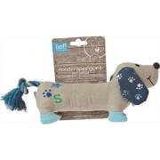 Lief! Lief! hondenspeelgoed canvas teckel met piep boys blauw