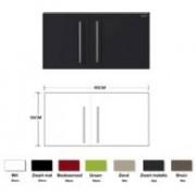 Keuken Metalen wandkast zwart mat 90cm RAI-834