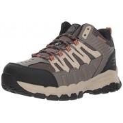 Skechers, Botas para Hombre, Queznell 77177, Bronceado claro, 28.5 Ancho Medio