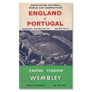 Programmes Engeland vs Portugal - WC Qualifier at Wembley Stadium - 25th Oct. 1961
