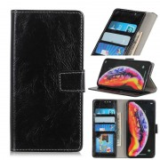 Samsung Retro Crazy Horse textuur horizontale Flip lederen case voor Galaxy A40 met houder & kaartsleuven & foto frame & portemonnee (zwart)