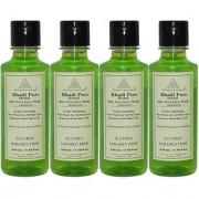 Khadi Pure Herbal Aloevera Face Wash SLS-Paraben Free - 210ml (Set of 4)