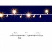Ghirlanda luminoasa 200 LED-uri legare in serie 10 metri IP44 lumina alb cald