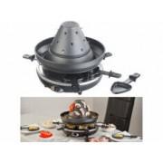 Rosenstein & Söhne Chapeau tatare électrique 1500 W 2 en 1 avec appareil à raclette pour 6 personnes