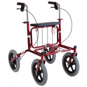 Carl Oscar - utomhus rollator med stora lufthjul