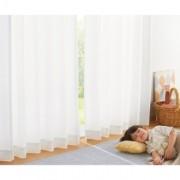 幅100×丈133cm(PM2.5対策 遮熱レースカーテン)(2枚組)