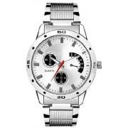New Grahak Silver Dilel Stainless Steel Watch- For Men 6 month warranty