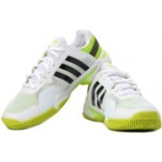 ADIDAS Adipower Barricade 8 Tennis Shoes For Men(Black, Green, White)