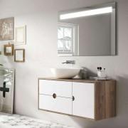 O'Design Meuble suspendu blanc 100 cm - Baltic