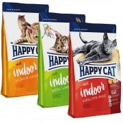 Happy Cat Indoor Adult 3 x 1,4 kg - Pack de prueba - Pack mixto: 3 variedades