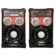Boxe audio active profesionale Ailiang USB/ SD/Radio FM AUX negre doua mufe jack pentru microfon 6.3mm .