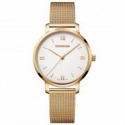 Wenger Metropolitan Donnissima Reloj de cuarzo acero inoxidable white-gold