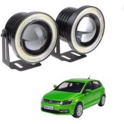 Auto Addict 3.5 High Power Led Projector Fog Light Cob with White Angel Eye Ring 15W Set of 2 For Volkswagen Polo Exquisite