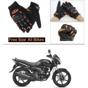 AutoStark Gloves KTM Bike Riding Gloves Orange and Black Riding Gloves Free Size For Honda CB Unicorn 150