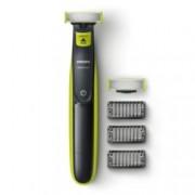 Самобръсначка Philips OneBlade QP2520/30, водоустойчива, никел-металхидридна батерия, до 45 минути работа на батерия, 8-часово пълно зареждане, зелена