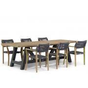 Lifestyle Garden Furniture Lifestyle Dallas/Trente 260 cm dining tuinset 7-delig
