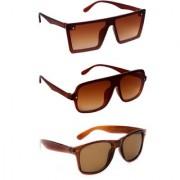TheWhoop UV Protected Combo Rectangular Wayfarer Sunglasses For Men Women Boys Girls