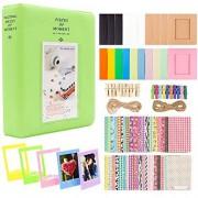 XuBa Photo Paper Film Album Set for Fu-jifilm Instax Mini Camera, Polaroid Snap, Z2300, SocialMatic Instant Cameras & Zip Instant Printer Grass (Green)