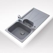 TEKA Cara 60 B TG gránit mosogatótálca - megfordítható kivitel - topázbézs