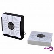vidaXL 14 cm Kvadratni držač papirnate mete + 100 papirnatih meta