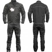 Protekt Wear Echipament Moto Complet 2 Piese Pantaloni si Jacheta BLACK