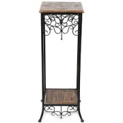 Desi Karigar Wrought Iron Cum End Table Size(LxBxH-11x11x31) Inch
