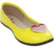 Stylar Heart Candy Bellies For Women(Yellow)