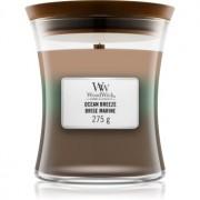 Woodwick Trilogy Ocean lumânare parfumată cu fitil din lemn 275 g