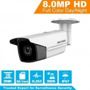 [ Original ] Hikvision H.265 Bullet IP Camera DS-2CD2T85FWD-I8 8 Megapixel Network Security Camera PoE Built-in SD Card Slot