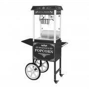 Máquina de Pipocas com carrinho - preto