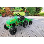 Kids Pedal Ride-On Tractor with Toy Trailer