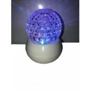 Veioza glob iluminat multicolor rotativ