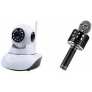 Zemini Wifi CCTV Camera and WS 858 Microphone Karake With Bluetooth Speaker for LG OPTIMUS L7 II(Wifi CCTV Camera with night vision |WS 858 Microphone Karake With Bluetooth Speaker)