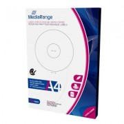 """Etiquetas Mediarange para CD/DVD/Bluray MATTE 41-118mm (Pack 100 Folhas)"""