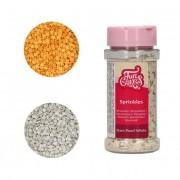 Cake Supplies Sprinkles de estrellas de colores metalizadas de 60 g - FunCakes - Color Dorado