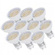 [lux.pro] Set de 10 bombillas LED de bajo consumo GU10 Spot - 230 V 3 W - alta potencia - 225 lm - luz blanca cálida 3000 K