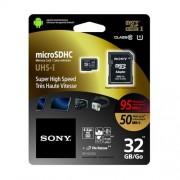 SONY microSD karta 32GB, class10, 95MB/s, adapter