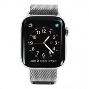 Apple Watch Series 4 - caja de acero inoxidable en gris 44mm - pulsera Milanese en plata (GPS+Cellular) refurbished