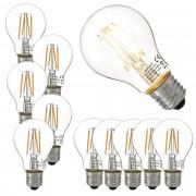 [lux.pro]® 10 x bombillas LED E27 de filamento blanco cálido 2700K luz 350lm 3W
