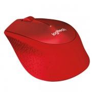 Miš Logitech M330 Silent Plus, optički , crveni