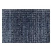 Miliboo Blauer Teppich mit grafischem Muster 200 x 290 cm SAPHIR