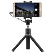 Selfie Stick Trepied Huawei AF14, cu suport de telefon, declansator pe maner (Negru)