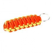 Paracord 550 Best Survival Grenade keychain for Camping Hiking Outdoor Activities brown orange